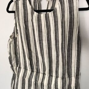 LOFT - Linen Stripped Sleeveless Dress